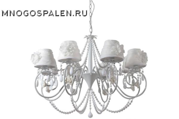 Люстра Crystal lux Elena WHITE SP8 купить в салоне-студии мебели Барселона mnogospalen.ru много спален мебель Италии классические современные