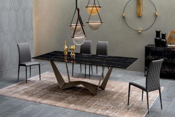 Стол  Reverse ceramic Tonin Casa купить в салоне-студии мебели Барселона mnogospalen.ru много спален мебель Италии классические современные